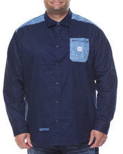 Big & Tall - Denim L/S Button-Down (B&T)