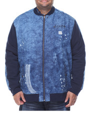 Men - Denim Bomber Jacket (B&T)