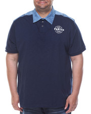 Men - Denim Graphic Polo (B&T)