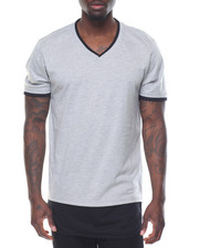 Buyers Picks - Round - Bottom Contrast - Layer S/S V - Neck Tee