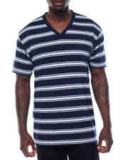 Basic Essentials - Basic 2 - Tone Stripe V - Neck S/S Tee