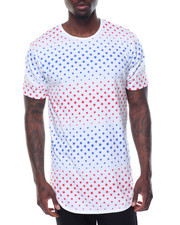 Basic Essentials - Star Printed Scallop Bottom S/S Tee