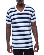 Basic Essentials - Yarn - Dyed Striped V - Neck S/S Tee