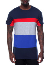 Basic Essentials - Tri - Stripe Color - Block S/S Tee