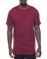 Men - Curved Bottom Long S/S Tee With Zippers