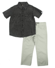 Akademiks - 2 PC SET - ACID WASH WOVEN & PANTS (4-7)