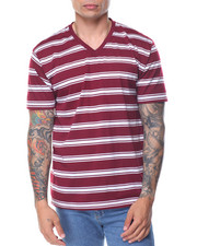Men - Basic 2 - Tone Stripe V - Neck S/S Tee