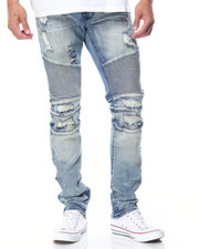 Jeans - CAUSEWAY DISTRESSED MOTO JEANS
