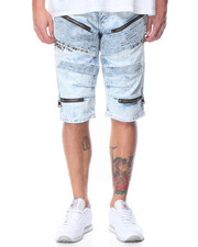 Heritage America - Zipper Biker Denim Short