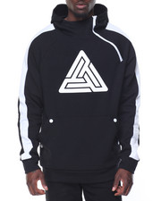 Men - B P Logo Side - Zip Pullover Hoodie