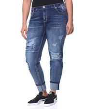 Fashion Lab - Aztec Cut Outs Buttlifter Ankle Skinny Jean