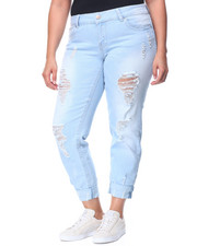 Jeans - Buttlifter Destructed Cuffed Skinny Jean (Plus)