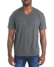 Shirts - Basic Heathered V-Neck S/S Tee