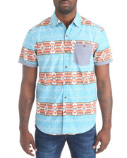 Shirts - S/S Navajo Button-down Shirt