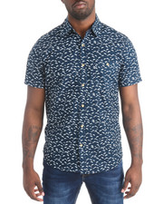 Shirts - S/S Dolphin Print Buttondown Shirt