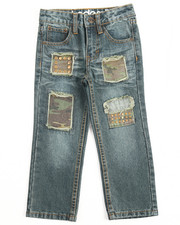 Bottoms - RIP & REPAIR JEANS W/ STUDS (4-7)