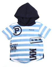 Tops - P-NATION STRIPED HOODED TEE (2T-4T)
