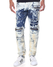 Men - Metallic Moto Jean