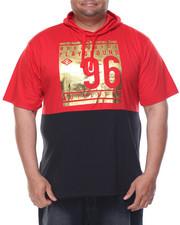 Shirts - Foil Print S/S Hoodie (B&T)