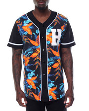 Basic Essentials - S/S Floral Baseball Jersey