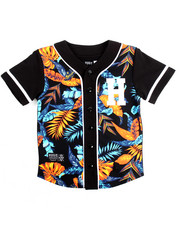 Button-downs - FLORAL BASEBALL JERSEY (8-20)