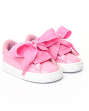 Toddler & Infant (0-4 yrs) - BASKET PATENT HEART SNEAKERS (5-10)