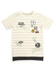 Tops - PEACE OUT STRIPE TEE (2T-4T)