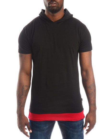 Buyers Picks - Layered - Accent Hooded S/S Tee