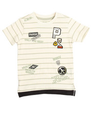 Boys - PEACE OUT STRIPE TEE (4-7)