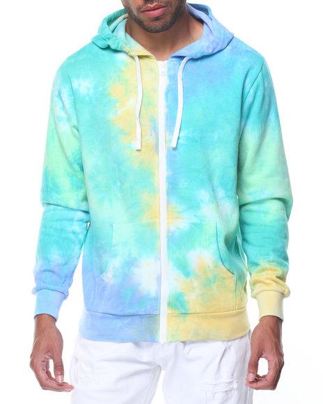 Tie dye zip up hoodie
