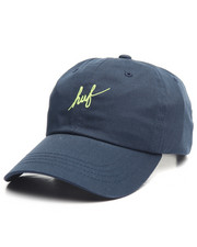 Hats - Script Curve Visor Strapback Cap
