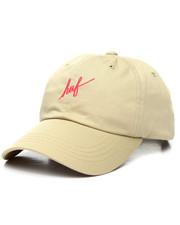 Dad Hats - Script Curve Visor Strapback Cap