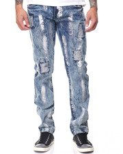 Men - Rigid Denim w Silver Brushstrokes