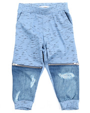 Sizes 2T-4T - Toddler - CUT & SEW INDIGO MARLED JOGGERS (2T-4T)