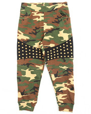 Bottoms - CAMO JOGGERS W/ STUDS (4-7)