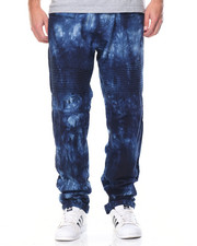 Men - Ombre Acid Washed Moto Denim Jeans