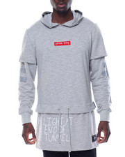 Hoodies - FORCE LAYERED - SLEEVE EXTENDED PULLOVER HOODIE
