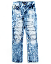 Boys - DISTRESSED JEANS W/ SLICED KNEES (8-20)