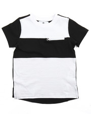 Tops - ELONGATED COLOR BLOCK TEE (2T-4T)