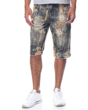 Men - Rigid Moto Denim Shorts
