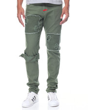 Jeans & Pants - Ridge - Patched Twill Pants