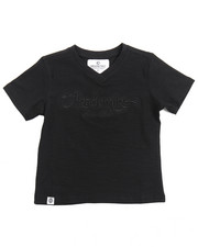 Sizes 2T-4T - Toddler - SLUB V-NECK LOGO TEE (2T-4T)
