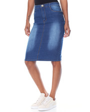 Fashion Lab - Sandblasted Denim Pencil Skirt