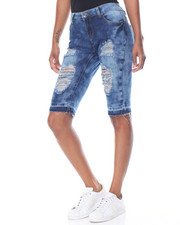 Fashion Lab - Destructeed Stretch Bermuda Jean