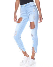 Fashion Lab - Blow Out Destruction Novelty Hem Skinny Jean