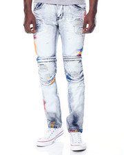 Men - Confetti Moto Denim Jeans
