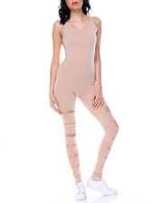 Fashion Lab - Slit Leg Catsuit