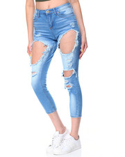 Fashion Lab - Blow Out Destructed Sandblasted Skinny Jean