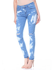 Women - Bleach Rips & Spots Skinny Jean