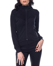 Women - Tech Fleece Pieced Rib Zip Hoodie